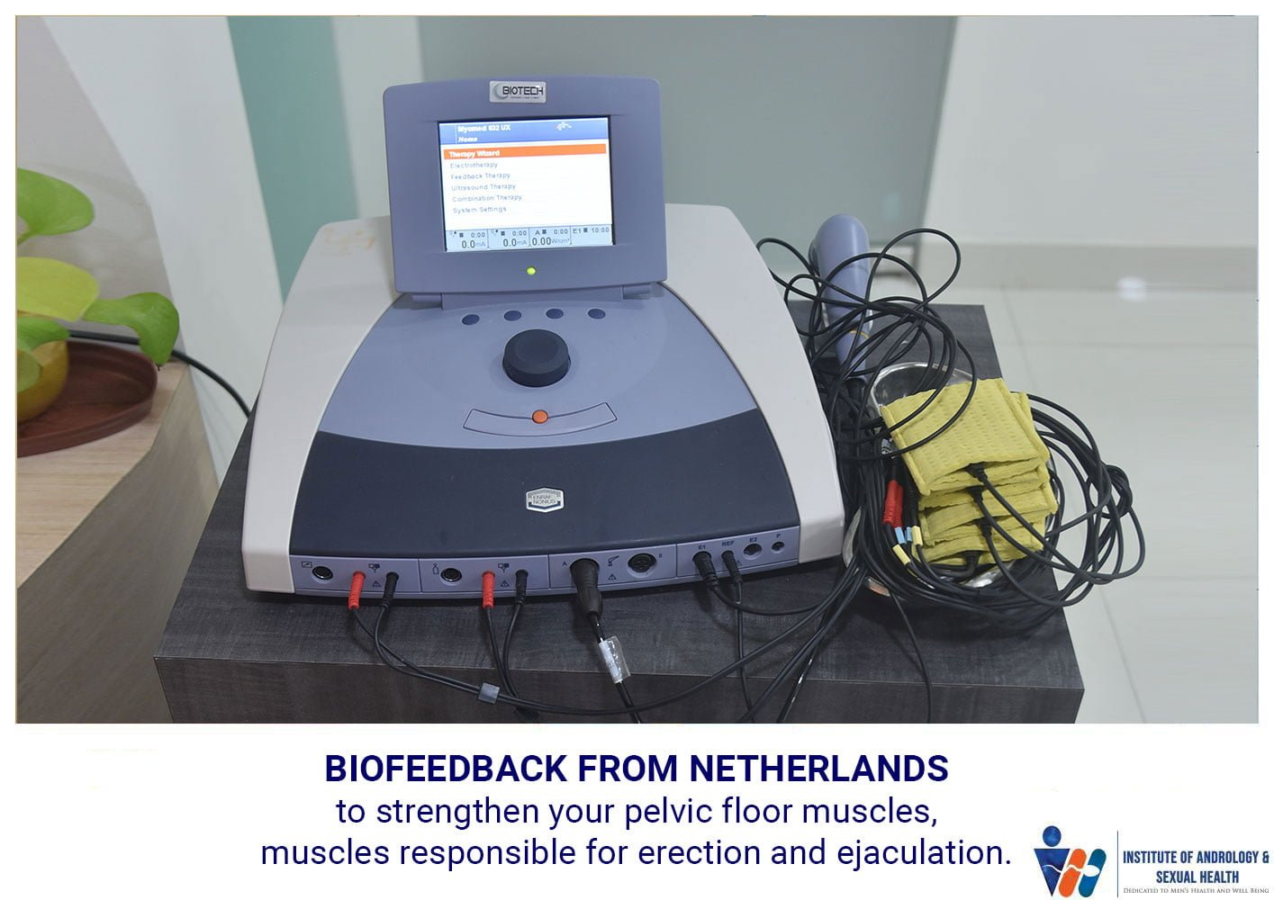 Biofeedback From Netherlands to Strengthen your Pelvic Floor Muscles, Muscles responsible for Erection and Ejaculation.